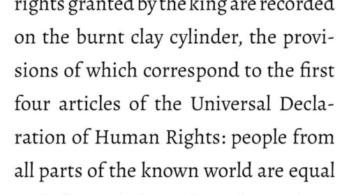 Persia had the first human rights
