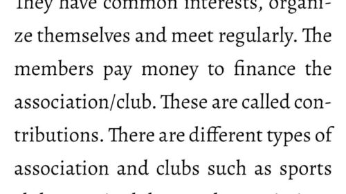 What is a Club/Association?