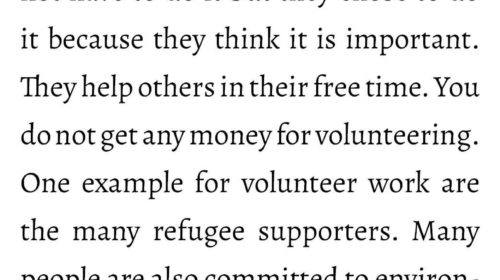 What is volunteer work?