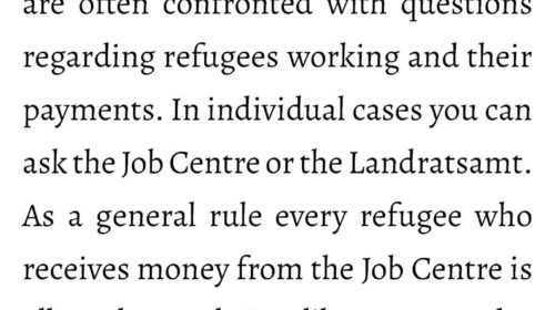 When are refugees allowed to work?