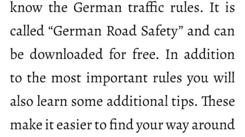 German Road Safety-App