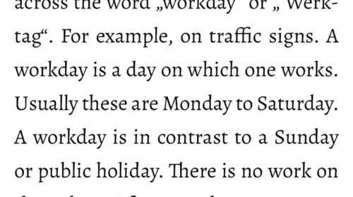 "What does ""workday"" mean?"