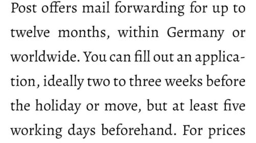 Letters move with you-Are you moving or will you be away from home