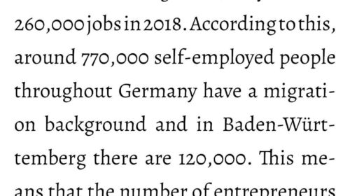 Entrepreneurs with migration background create jobs in Germany