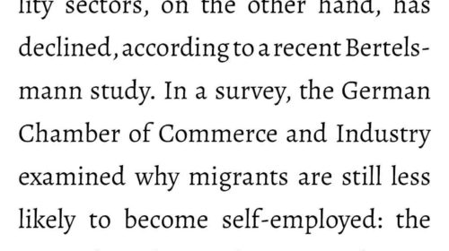 High number of self-employed migrants in the German service sect