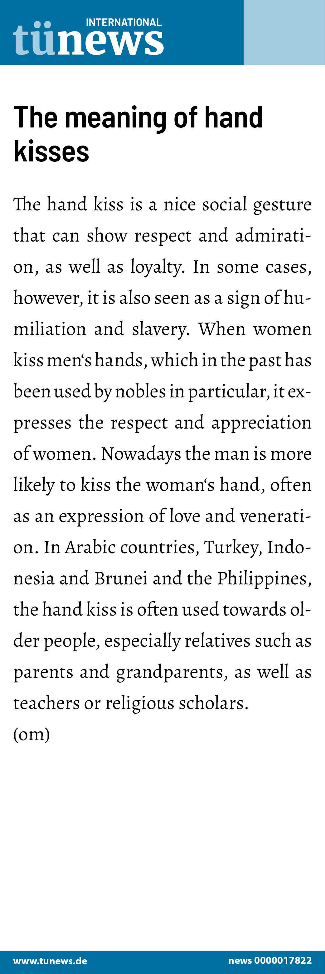The meaning of hand kisses The hand kiss is a nice social gesture ...
