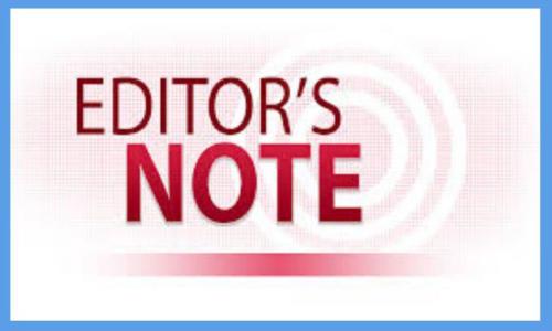 EDITORS NOTES